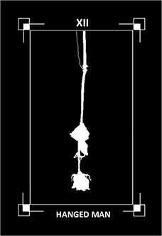 The Hanged Man Tarot Card - Dark Exact Tarot Deck