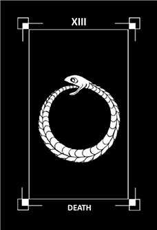 Death Tarot Card - Dark Exact Tarot Deck