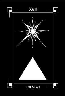 The Star Tarot Card - Dark Exact Tarot Deck