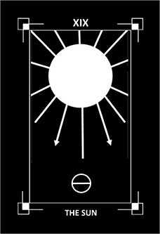 The Sun Tarot Card - Dark Exact Tarot Deck