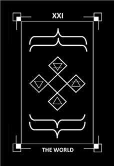 The World Tarot Card - Dark Exact Tarot Deck
