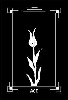 Ace of Clubs Tarot Card - Dark Exact Tarot Deck