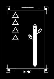Father of Wands Tarot Card - Dark Exact Tarot Deck