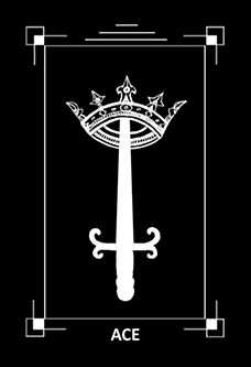 Ace of Swords Tarot Card - Dark Exact Tarot Deck