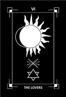 The Lovers Tarot Card - Dark Exact Tarot Deck