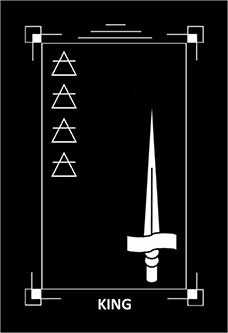 Roi of Swords Tarot Card - Dark Exact Tarot Deck
