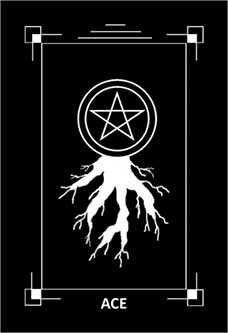 Ace of Stones Tarot Card - Dark Exact Tarot Deck