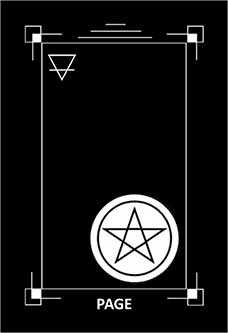 Page of Discs Tarot Card - Dark Exact Tarot Deck