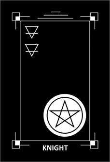 Son of Discs Tarot Card - Dark Exact Tarot Deck