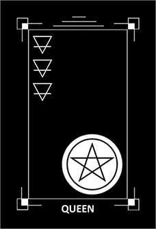 Queen of Diamonds Tarot Card - Dark Exact Tarot Deck