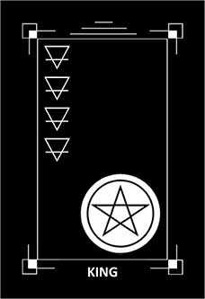 Roi of Coins Tarot Card - Dark Exact Tarot Deck