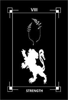 Fortitude Tarot Card - Dark Exact Tarot Deck