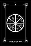 Wheel of Fortune Tarot card in Dark Exact Tarot deck