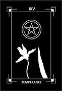 Temperance Tarot card in Dark Exact Tarot deck