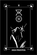 The High Priestess Tarot card in Dark Exact Tarot deck