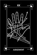 Judgement Tarot card in Dark Exact Tarot deck