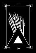 Ten of Wands Tarot card in Dark Exact Tarot deck