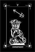 The Hierophant Tarot card in Dark Exact deck