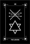 The Lovers Tarot card in Dark Exact Tarot deck