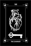 The Chariot Tarot card in Dark Exact deck