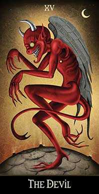 The Devil Tarot Card - Deviant Moon Tarot Deck