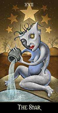 The Star Tarot Card - Deviant Moon Tarot Deck