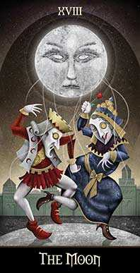 The Moon Tarot Card - Deviant Moon Tarot Deck