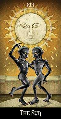 The Sun Tarot Card - Deviant Moon Tarot Deck
