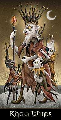 King of Imps Tarot Card - Deviant Moon Tarot Deck