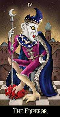 The Emperor Tarot Card - Deviant Moon Tarot Deck