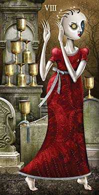 Eight of Cups Tarot Card - Deviant Moon Tarot Deck