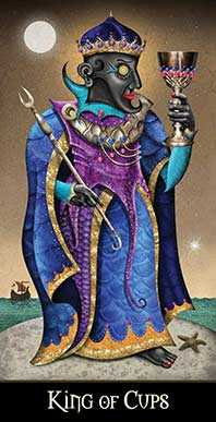 King of Water Tarot Card - Deviant Moon Tarot Deck