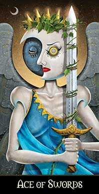 Ace of Swords Tarot Card - Deviant Moon Tarot Deck