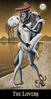 The Lovers Tarot Card - Deviant Moon Tarot Deck