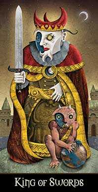 King of Spades Tarot Card - Deviant Moon Tarot Deck