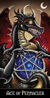 Ace of Discs Tarot Card - Deviant Moon Tarot Deck