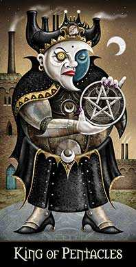 Roi of Coins Tarot Card - Deviant Moon Tarot Deck