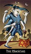 The Magician Tarot card in Deviant Moon deck
