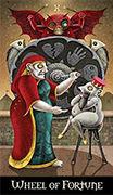 Wheel of Fortune Tarot card in Deviant Moon deck