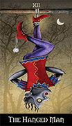 The Hanged Man Tarot card in Deviant Moon deck