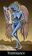 Temperance Tarot card in Deviant Moon deck