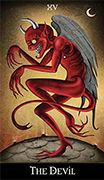 The Devil Tarot card in Deviant Moon deck