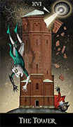 The Tower Tarot card in Deviant Moon deck