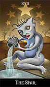 The Star Tarot card in Deviant Moon deck
