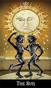 The Moon Tarot card in Deviant Moon deck