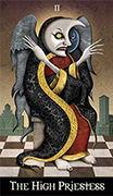 The High Priestess Tarot card in Deviant Moon deck