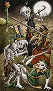 Five of Wands Tarot card in Deviant Moon deck