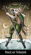 Page of Wands Tarot card in Deviant Moon deck