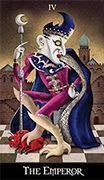 The Emperor Tarot card in Deviant Moon deck