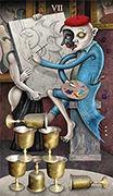 Seven of Cups Tarot card in Deviant Moon deck